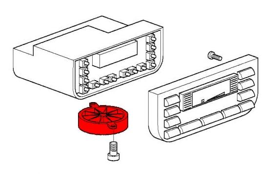 interior sensor fan for temperature control unit