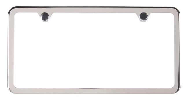 Stainless Steel Slimline License Plate Frame (2-hole), Polished ...
