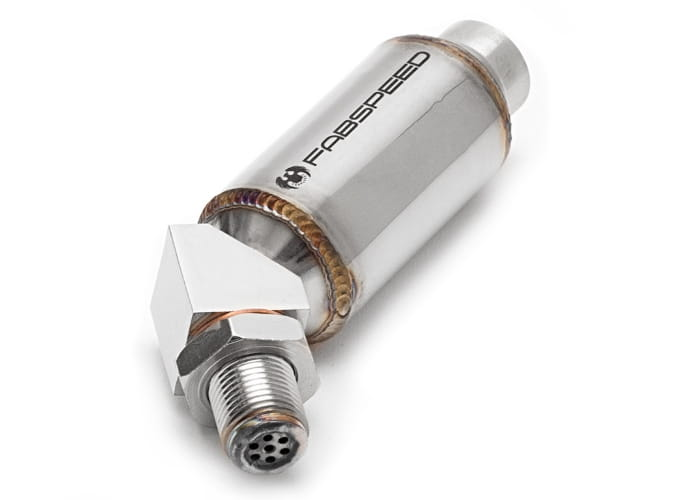 Fabspeed Universal O2 Spacers with Catalytic Converters - 45 degree - For  use on downstream oxygen sensors only (Pair, NOT CARB CERTIFIED)