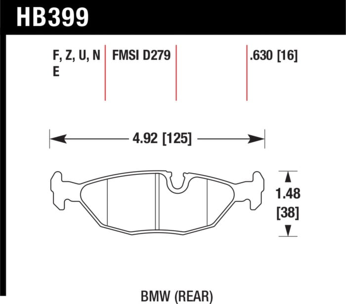 Hawk Performance HB609Z.572 Performance Ceramic Brake Pad
