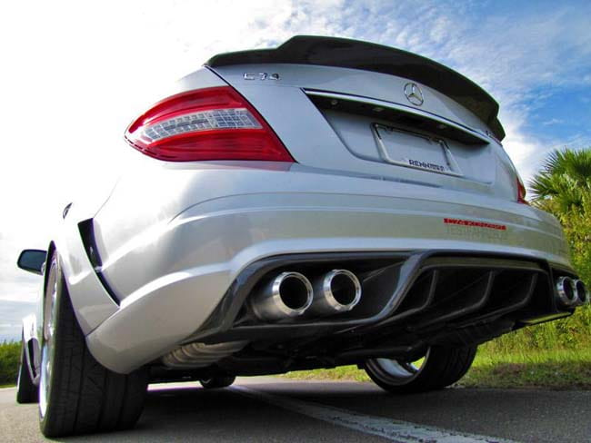 Mercedes-Benz RENNtech Carbon Fiber Rear Diffuser with Integrated Exhuast  Tips PELAERO882042080 PEL AERO 88 204 20 80
