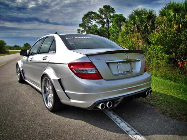 Mercedes-Benz RENNtech C63 Rear Widebody Conversion Kit PELAERO882042360  PEL AERO 88 204 23 60
