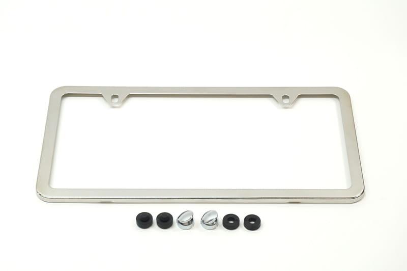 Porsche Stainless Steel Slimline License Plate Frame