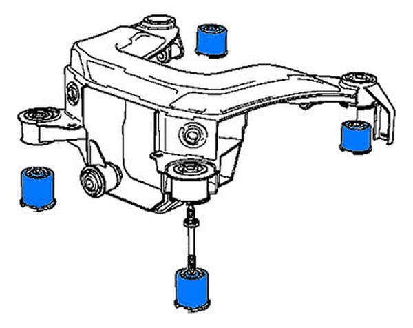 bmw uuc motorwerks subframe mounts  urethane - pelsubfrmmtrace1 - pel subfrmmt race 1