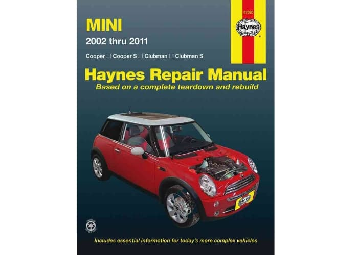 haynes repair manual mini cooper cooper s clubman clubman. Black Bedroom Furniture Sets. Home Design Ideas