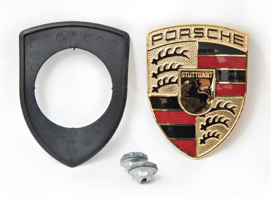 PORSCHE 911 996 CARRERA BADGE EMBLEM GENUINE Silver 99755923700 NEW NUE