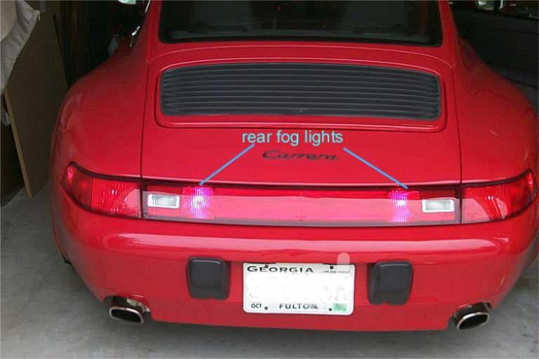 993 Rear Fog Lights
